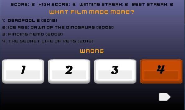 What Movies Made More? screenshot 10