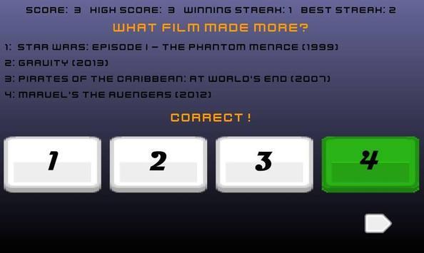 What Movies Made More? screenshot 7