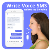 Write Massage By Voice  Voice Text msg icon