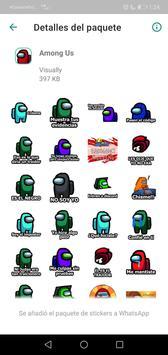 Sticker de personajes Among Us para WhatsApp captura de pantalla 4