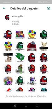Sticker de personajes Among Us para WhatsApp captura de pantalla 5