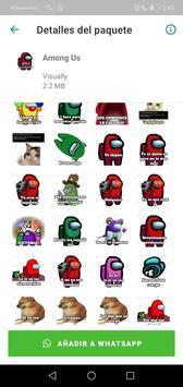 Sticker de personajes Among Us para WhatsApp captura de pantalla 1