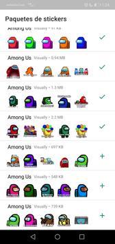 Sticker de personajes Among Us para WhatsApp captura de pantalla 3