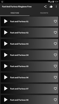 Fast and Furious Ringtone free screenshot 1