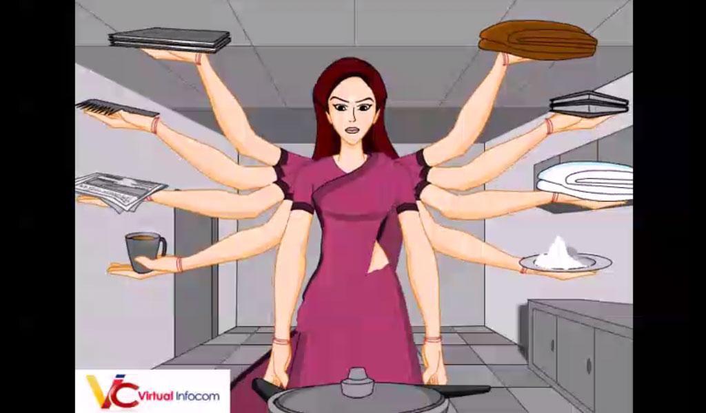 durga puja animated video free download