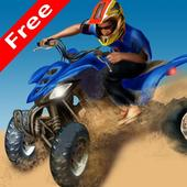 3D quad bike racing icon