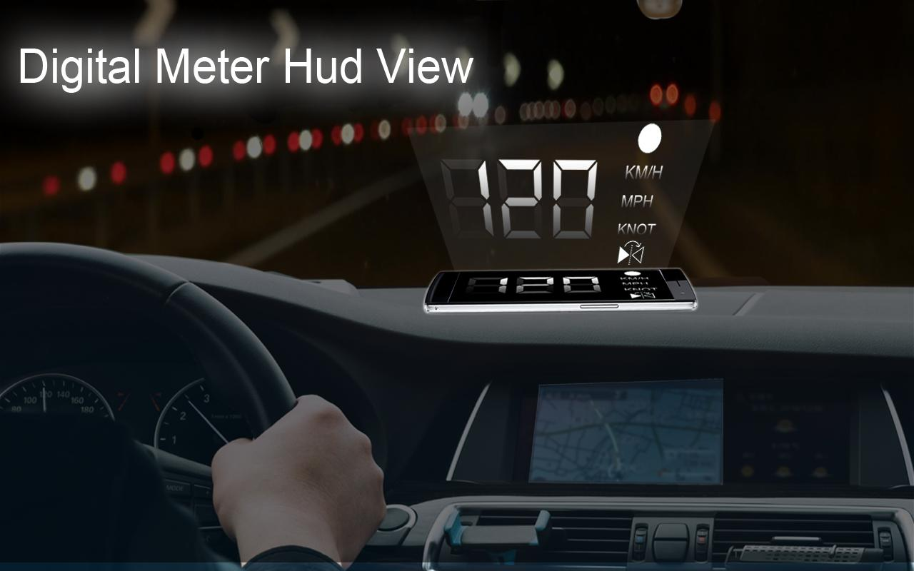 Digital GPS Speedometer Odometer Offline HUD View for