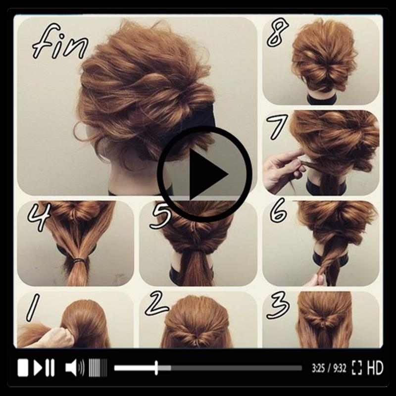 Girls Hairstyles Videos Hairstyle Tutorials 2019 For Android Apk