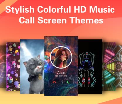 Vivid Caller–Caller screen theme changer LED Flash poster