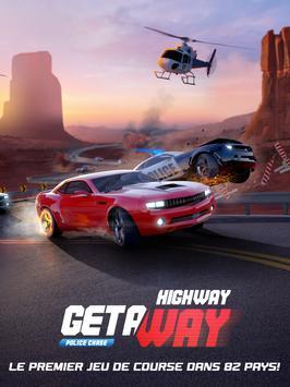 Highway Getaway Jeu de voiture de course poursuite capture d'écran 12