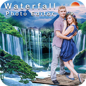 Waterfall Photo Frame : Background Changer icon