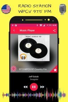 97.5 WPCV 97 Country Fm Florida Radio Stations HD screenshot 1
