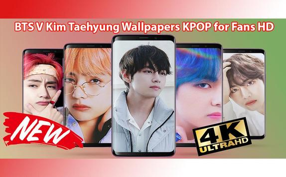 BTS V Kim Taehyung Wallpapers KPOP for Fans HD poster