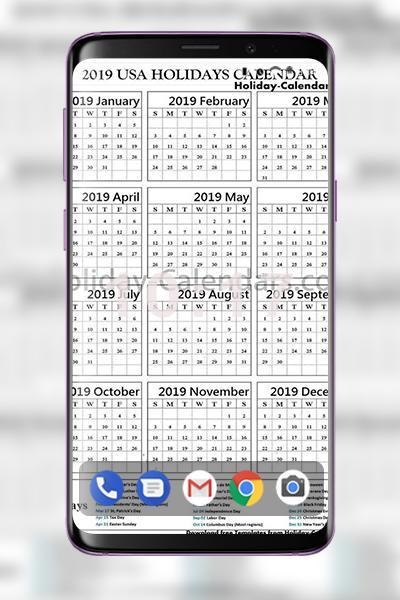 Tps Calendar.Sample Us Holidays Calendar 2019 Printable For Android Apk Download