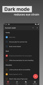 Week planner: Todo list and Reminder capture d'écran 4
