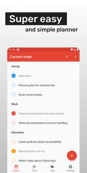 Week planner: Todo list and Reminder Affiche