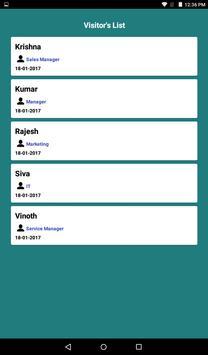 Visitors Management System screenshot 3