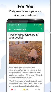 Prayer times, Quran and azan & Qibla-Vmuslim Pro screenshot 5