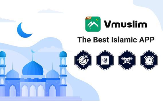 Prayer times, Quran and azan & Qibla-Vmuslim Pro screenshot 6