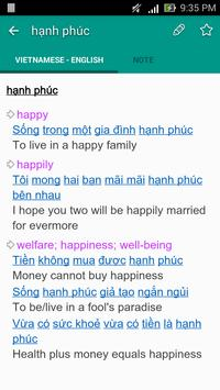 English Vietnamese Dictionary TFlat screenshot 2