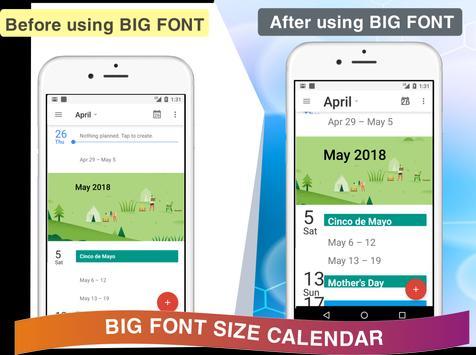 Enlarge Font: Enlarge text, Larger font screenshot 5