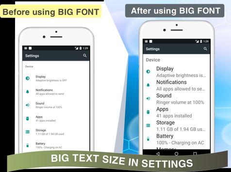 Enlarge Font: Enlarge text, Larger font screenshot 6