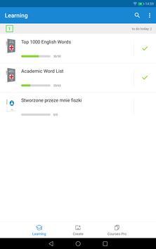 फ्लैशकार्ड के साथ अंग्रेजी सीखना आसान है - Voc App स्क्रीनशॉट 5