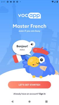 Learn French Vocabulary: Voc App French Flashcards poster