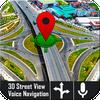 صوت GPS الملاح الحية وخرائط المرور العابر أيقونة