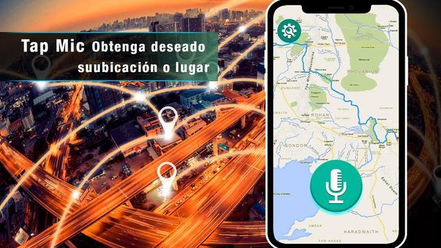 Navegador GPS de voz en tiempo mapas de tránsito Poster