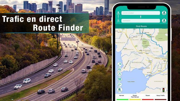 voix GPS navigator trafic en direct et cartes de capture d'écran 6