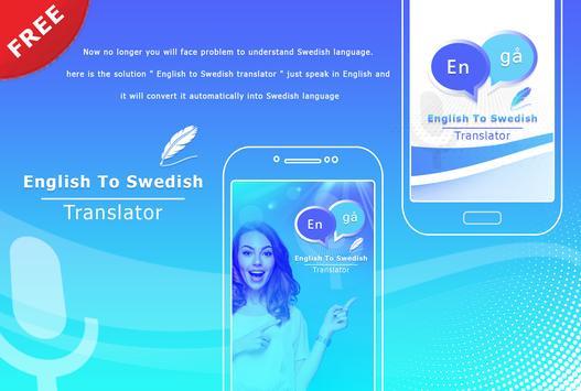 English to Swedish Translate - Voice Translator poster