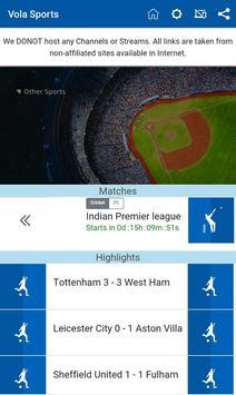 7 Schermata Vola Sports Live Guide