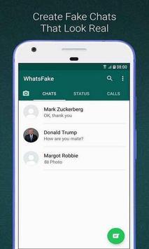 Create Whats Fake Chat (Prank Conversations) screenshot 2