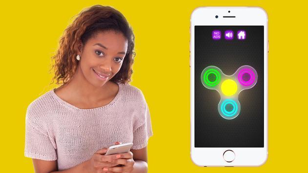 Fidget Spinner Wheel Neon Glow - not a fidget cube screenshot 1