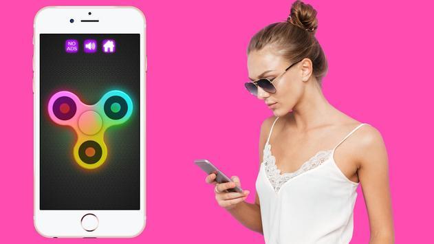 Fidget Spinner Wheel Neon Glow - not a fidget cube screenshot 7