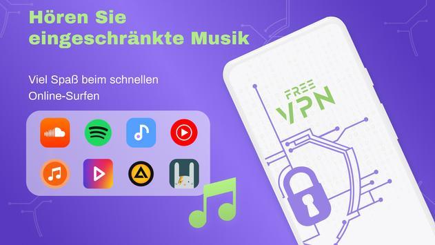 VPN Kostenlos - Unbegrenztes VPN, schnell sicher Screenshot 7