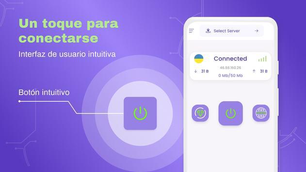 VPN Gratis - VPN ilimitado, rápido seguro, proxy captura de pantalla 3
