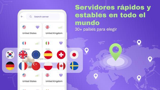 VPN Gratis - VPN ilimitado, rápido seguro, proxy captura de pantalla 4