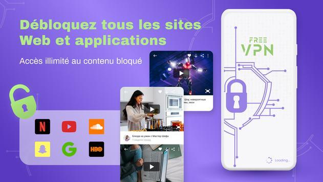 VPN gratuit illimite pour android - VPN rapide Affiche