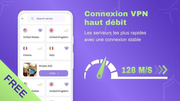 VPN gratuit illimite pour android - VPN rapide capture d'écran 5