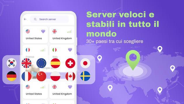 4 Schermata VPN gratuita: VPN illimitata, Veloce sicuro, Proxy