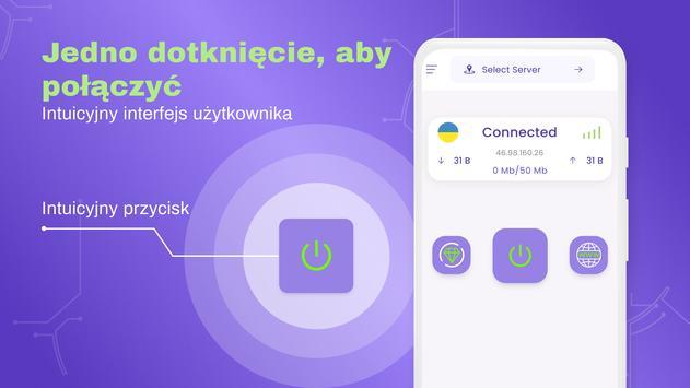 VPN bezpłatny - nieograniczony, szybki, bezpieczny screenshot 3