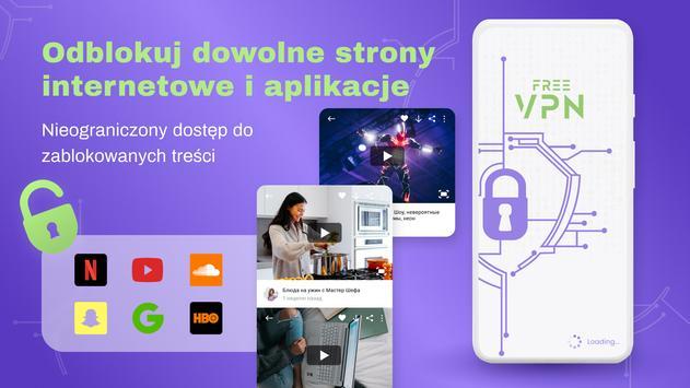 VPN bezpłatny - nieograniczony, szybki, bezpieczny plakat