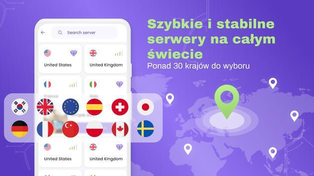VPN bezpłatny - nieograniczony, szybki, bezpieczny screenshot 4