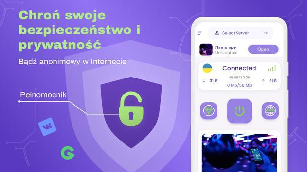 VPN bezpłatny - nieograniczony, szybki, bezpieczny screenshot 6