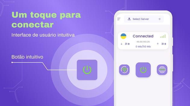 VPN grátis - VPN ilimitado, rápido e seguro, proxy imagem de tela 3