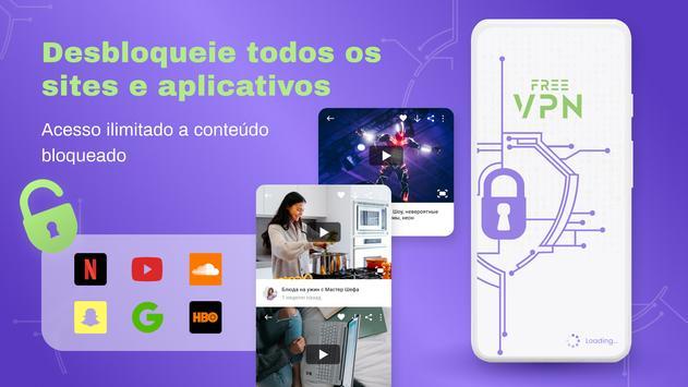 VPN grátis - VPN ilimitado, rápido e seguro, proxy Cartaz