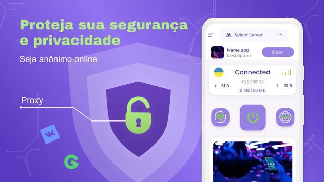 VPN grátis - VPN ilimitado, rápido e seguro, proxy imagem de tela 6