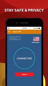 Spade VPN -  Free & Secure Italy VPN Service screenshot 4